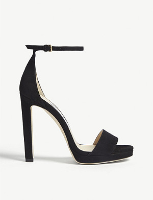 JIMMY CHOO Misty 120 suede heeled sandals