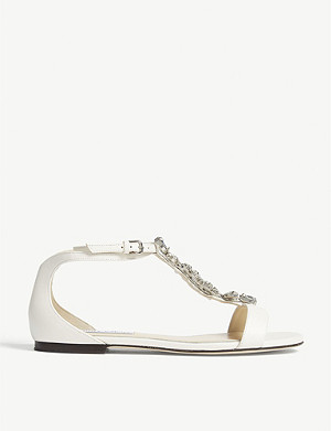 JIMMY CHOO Averie embellished leather sandals