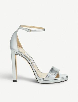 e1d7a392a41 JIMMY CHOO - Pattie 130 glitter platform sandals