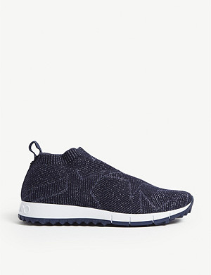 JIMMY CHOO Norway knitted lurex trainers