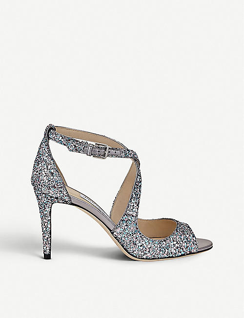 96bb027ec998 JIMMY CHOO Emily 85 glitter heeled sandals