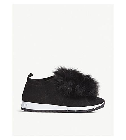 6f0f3f3cf4c2 JIMMY CHOO - Norway faux-fur and knitted sneakers