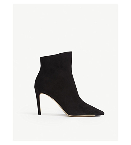 04fc14bbacef Jimmy Choo Helaine 85 Suede Ankle Boots In Black