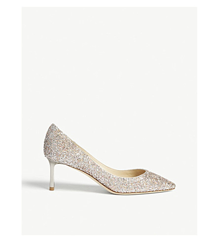 41c34ad5e0a2 JIMMY CHOO Romy 60 speckled glitter courts (Viola+mix