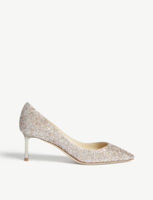 JIMMY CHOO Romy 60 speckled glitter courts