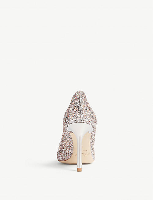 JIMMY CHOO Romy 85 speckled glitter courts