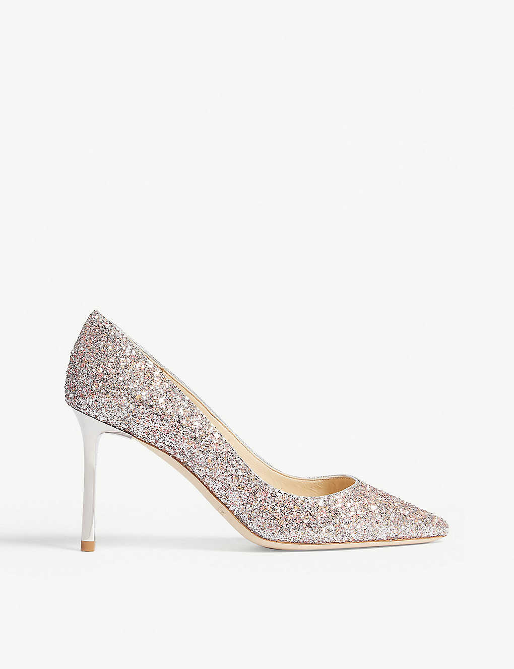 5d2acc99a96f JIMMY CHOO - Romy 85 speckled glitter courts | Selfridges.com