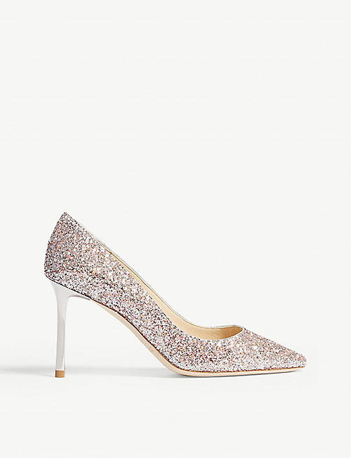 007ed9e99d43 JIMMY CHOO Romy 85 speckled glitter courts