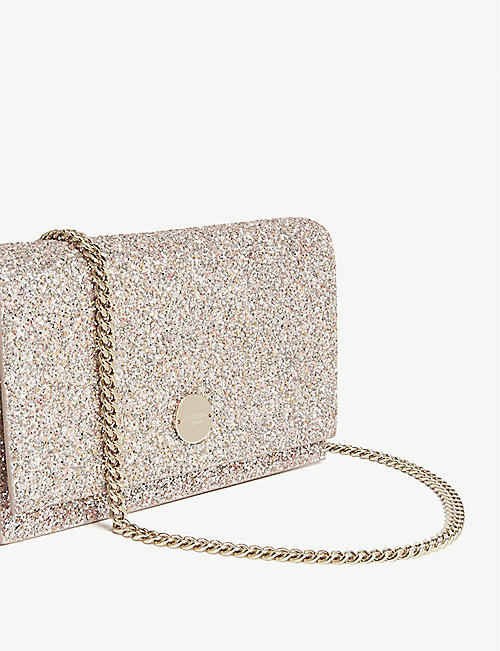07b4e9dfdc8a JIMMY CHOO Florence speckled glitter clutch