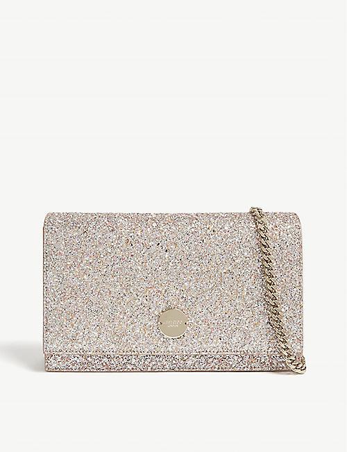 a283576dd76c JIMMY CHOO Florence speckled glitter clutch