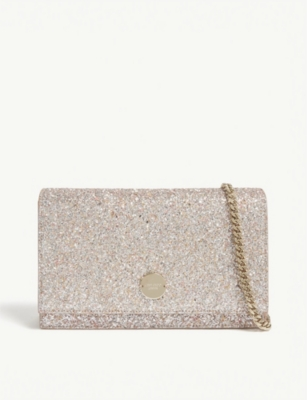 JIMMY CHOO Florence speckled glitter clutch