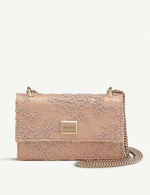 JIMMY CHOO Leni floral lace bag