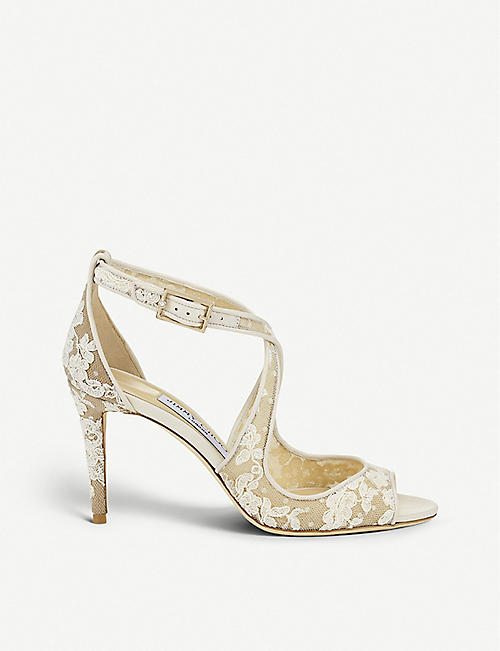 a9d1b57e5aba JIMMY CHOO Emily 85 lace heeled sandals