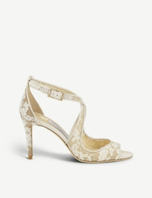 JIMMY CHOO Emily 85 lace heeled sandals