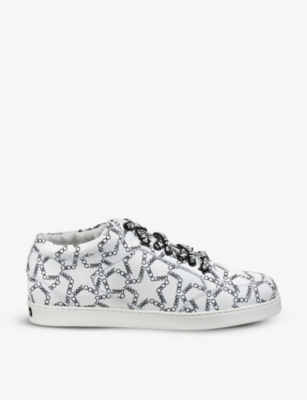 JIMMY CHOO Miami glitter trainers