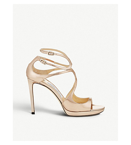469fa10d765e ... JIMMY CHOO Lance 100 leather heeled sandals (Ballet+pink. PreviousNext