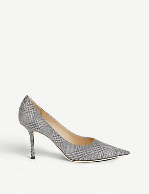 JIMMY CHOO Love 85 star-print glittered pumps