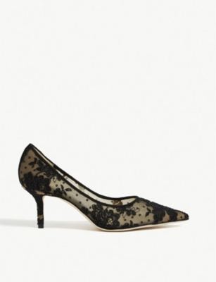 JIMMY CHOO Love 65 floral-lace courts