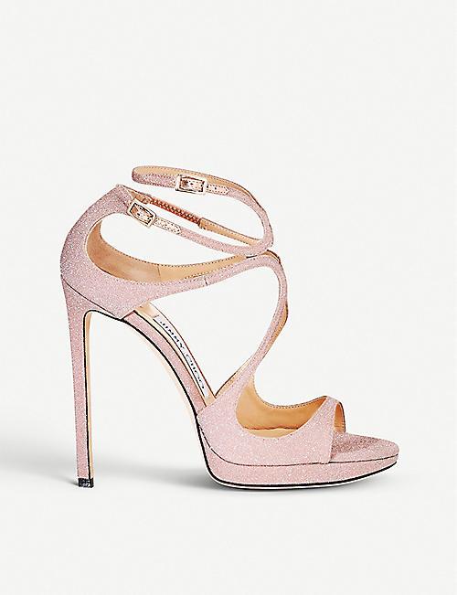 8074b372fa6 JIMMY CHOO Lance 120 glitter heeled sandals