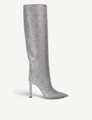 Mavis 100 glitter knee-high boots - Silver