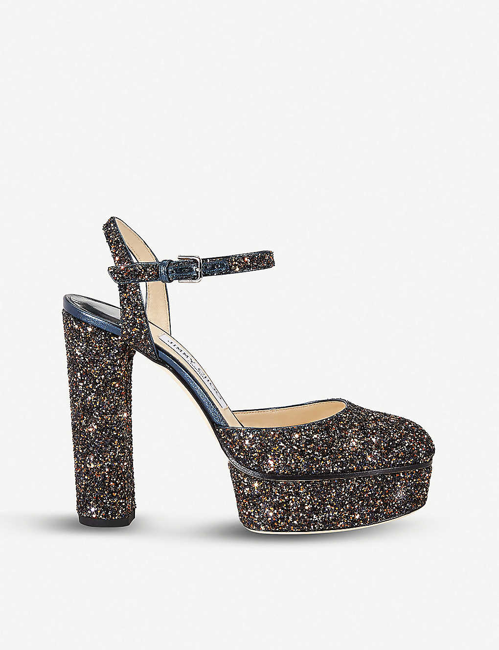 e35deaee1f1 JIMMY CHOO - Maple 125 glittered platform sandals | Selfridges.com
