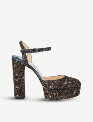 70aa83a852b JIMMY CHOO Maple 125 glittered platform sandals