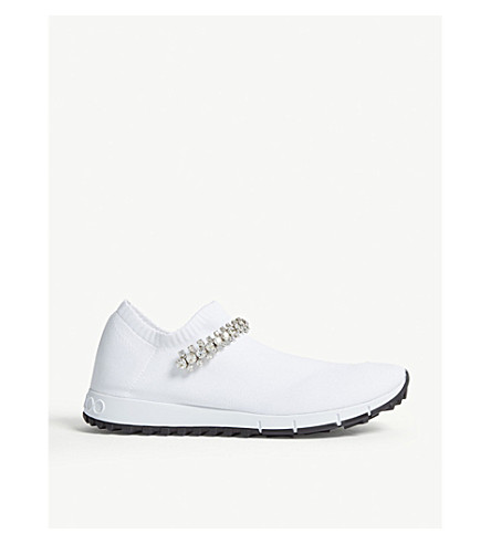 b78e116c2052 JIMMY CHOO Verona knitted textile sneakers (White crystal
