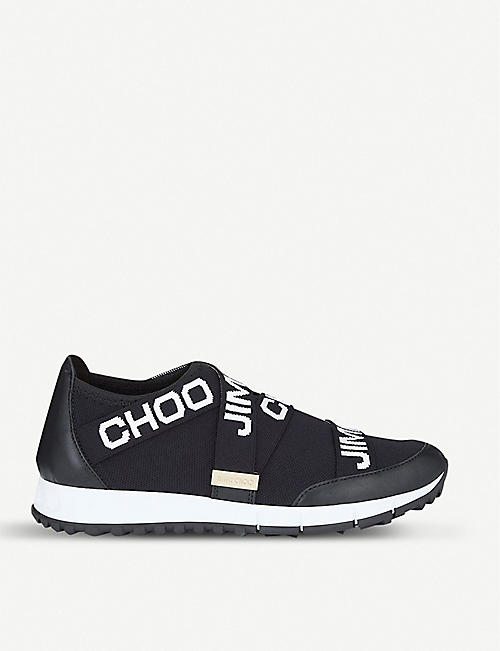 14a044e20 JIMMY CHOO Toronto leather and stretch-knit trainers