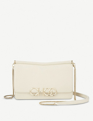 JIMMY CHOO Sidney nappa leather cross-body bag