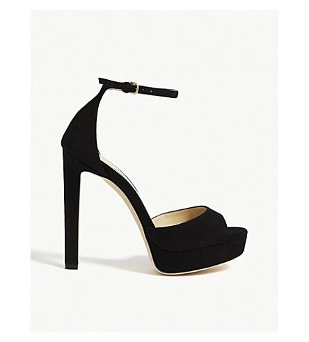 ed2cbb94d7c JIMMY CHOO Pattie 130 suede sandals (Black