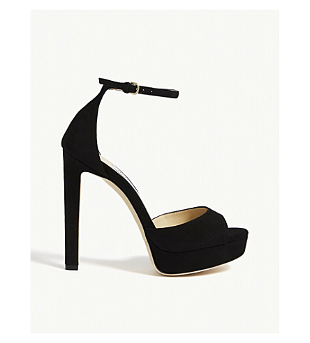 e402383abd5f JIMMY CHOO - Pattie 130 suede sandals