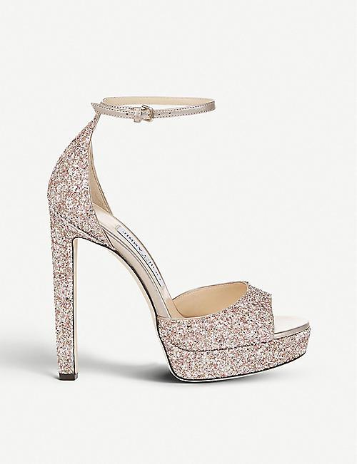 59f433538af JIMMY CHOO Pattie 130 glitter platform sandals