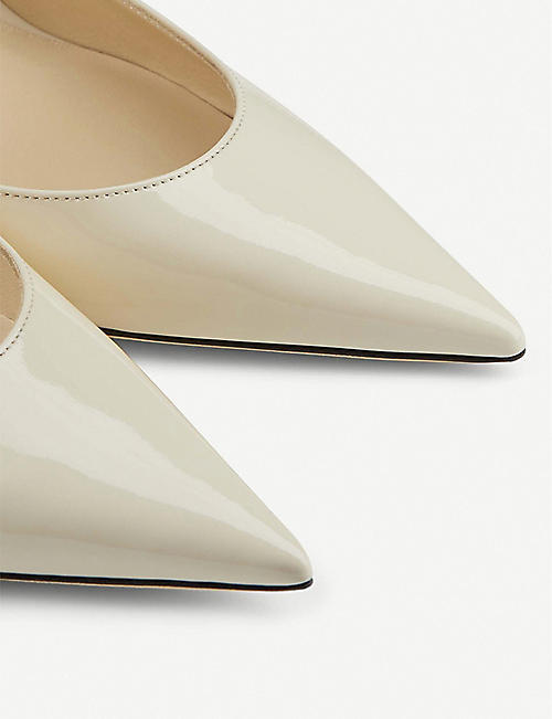 JIMMY CHOO Bing 100 patent-leather heeled mules