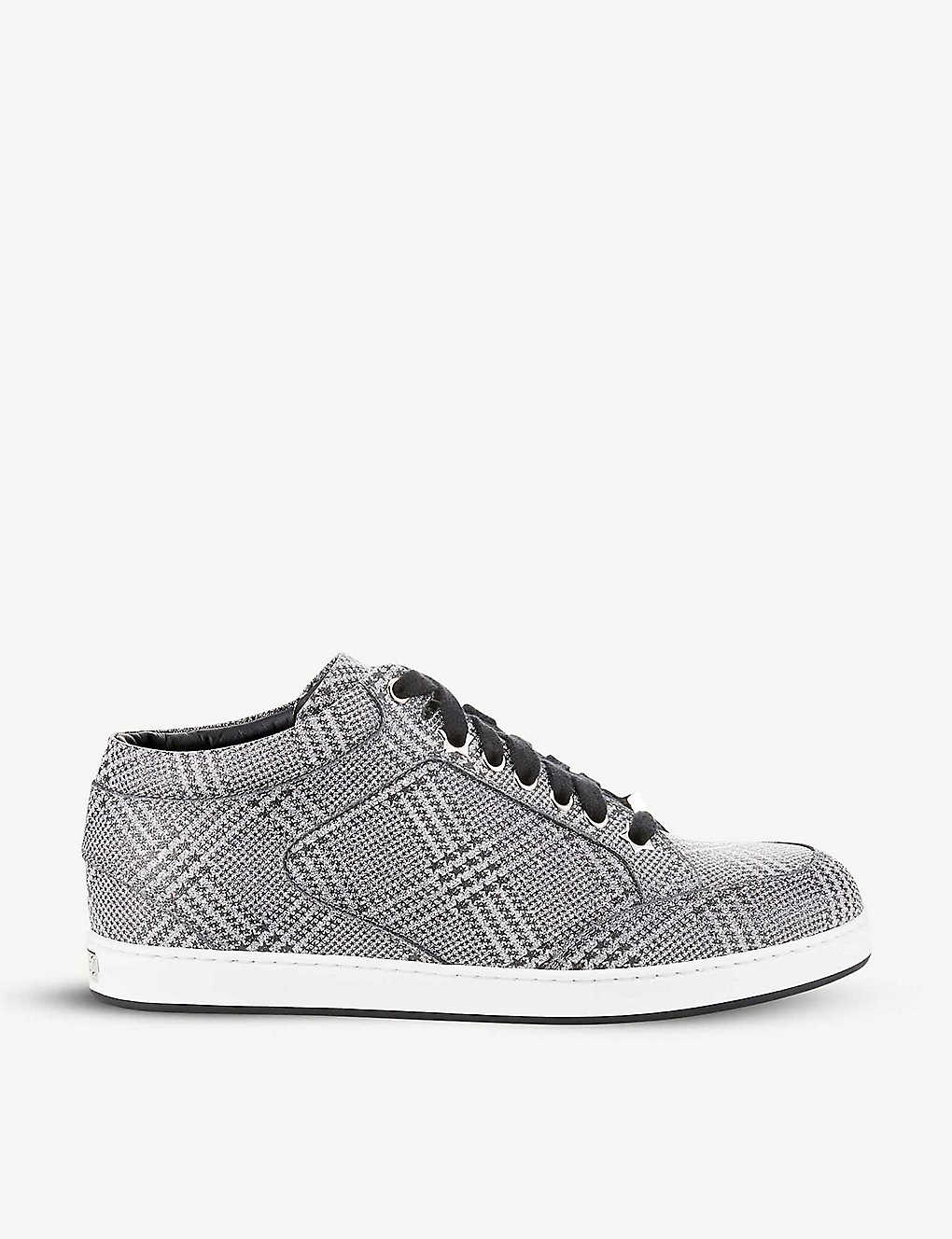 JIMMY CHOO: Miami leather trainers