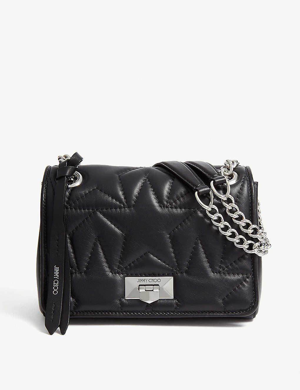 ace1fc4d727 JIMMY CHOO - Helia small leather shoulder bag | Selfridges.com