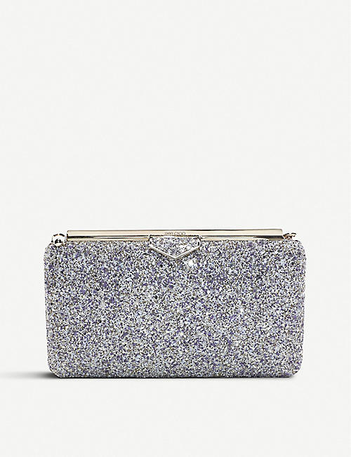 ac845d8e7c406 JIMMY CHOO Ellipse glittered clutch