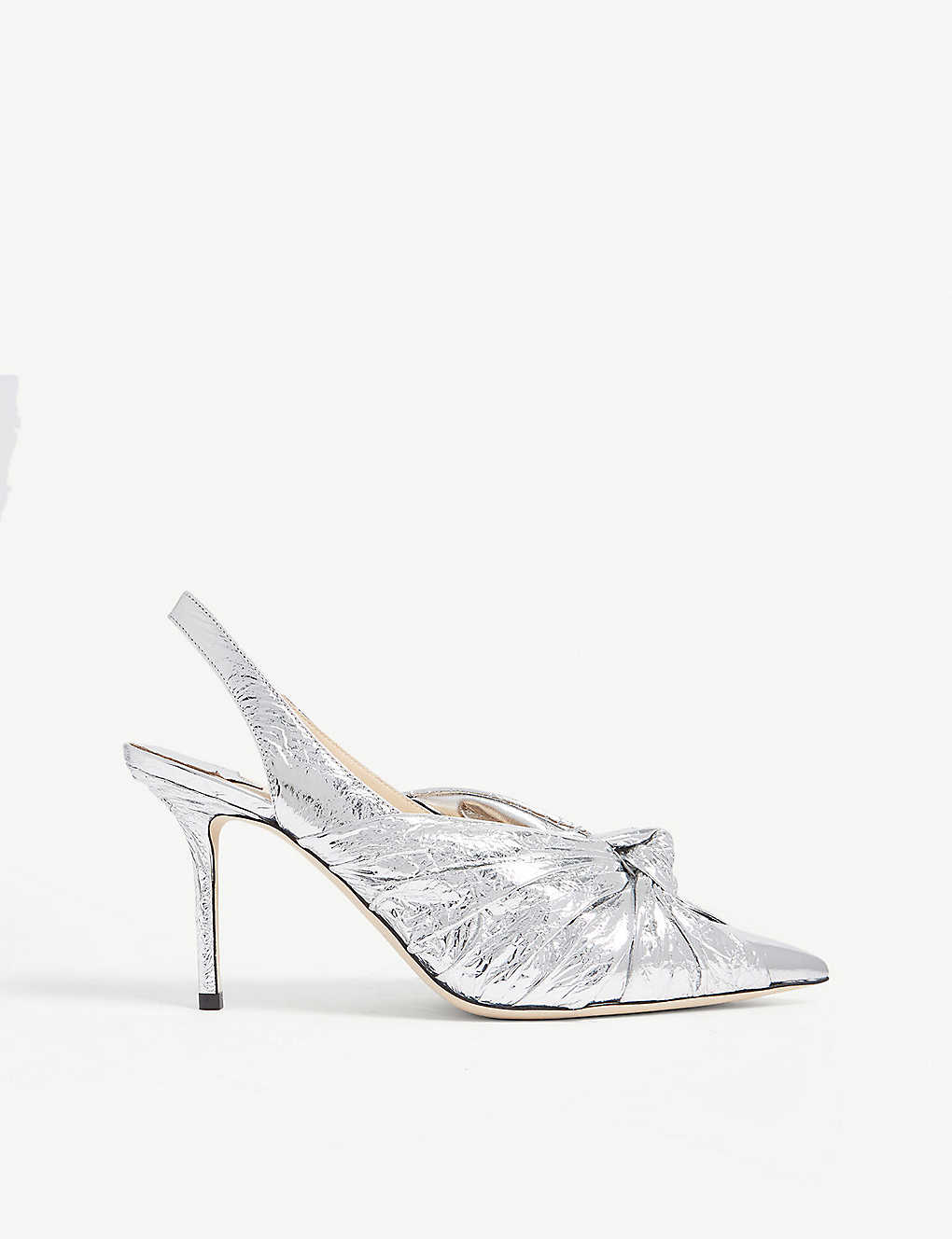 1cd949b44 JIMMY CHOO - Annabell 85 metallic leather slingback pumps ...