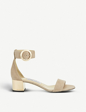 JIMMY CHOO Jaimie 40 suede heeled sandals