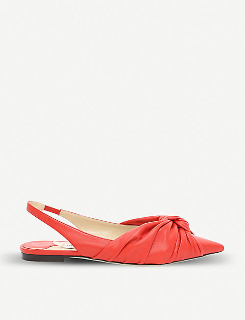 JIMMY CHOO Annabell patent leather slingback flats