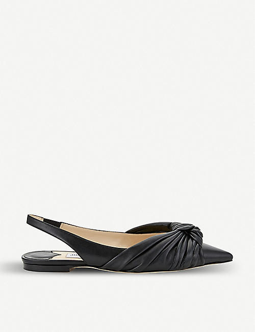 c388ae003 JIMMY CHOO Annabell patent leather slingback flats