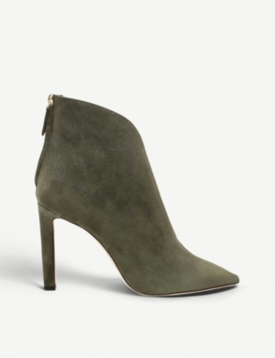 JIMMY CHOO Bowie 100 suede and plexi boots