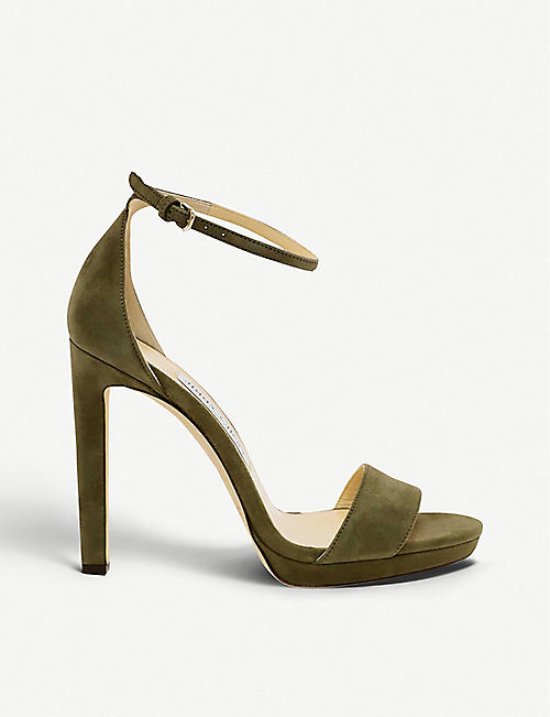 6d47f82e92a JIMMY CHOO Misty 120 suede heeled sandals
