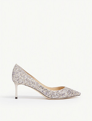 JIMMY CHOO Romy 60 glittered courts