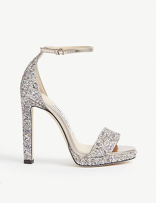 387326ea4610 JIMMY CHOO Misty glittered sandals