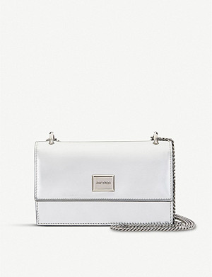 JIMMY CHOO Leni metallic leather cross-body bag