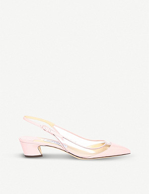 JIMMY CHOO Gemma 40 leather slingback pumps