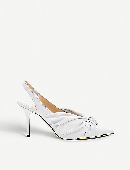 893354a953d JIMMY CHOO Annabell 85 patent leather slingback pumps