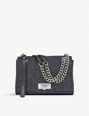 JIMMY CHOO Helia denim shoulder bag