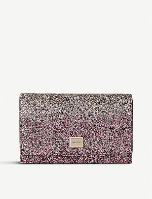 JIMMY CHOO Lizzie glittered shoulder bag