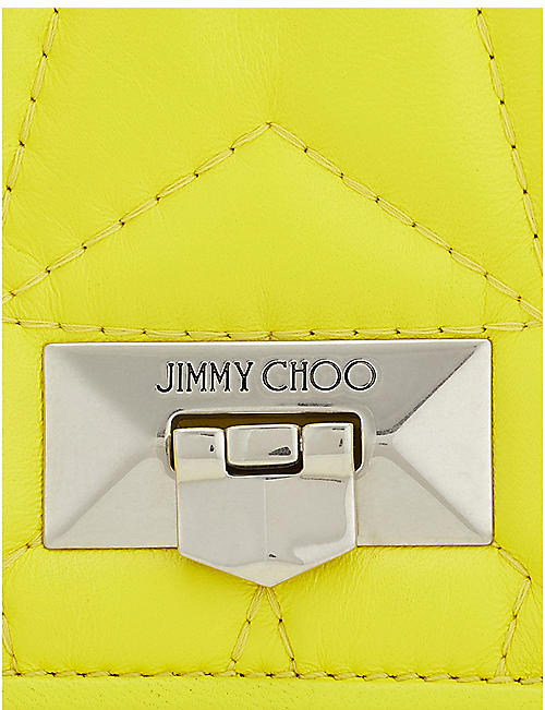 JIMMY CHOO Helia leather shoulder bag